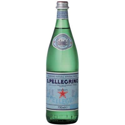 San Pellegrino Sparkling Natural Mineral Water Glass 750ml Pack of 12
