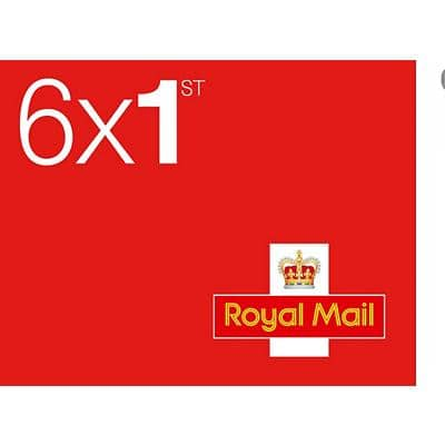 Royal Mail 1st Class Postage Stamps 6 Pieces
