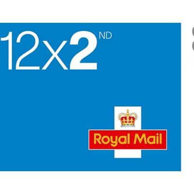 Royal Mail 2nd Class Postage Stamps 12 Pieces
