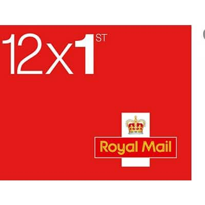 Royal Mail 1st Class Postage Stamps Self Adhesive Pack of 12