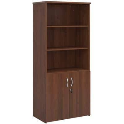 Dams International Combination Unit Lockable with 4 Shelves Melamine Universal 800 x 470 x 1790mm Walnut