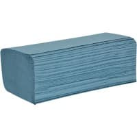 essentials Hand Towels HZ1B30DS 1 Ply Z-fold Blue 3000 Sheets