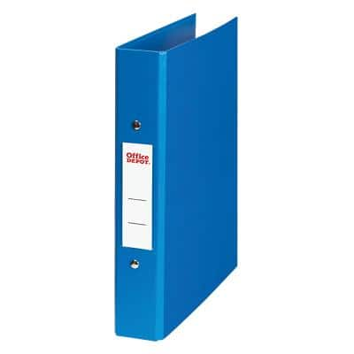 Office Depot Ring Binder 2 ring 25 mm Plastic on Board A5 Blue
