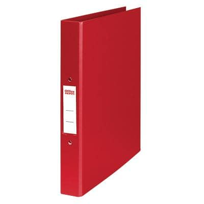 Office Depot Ring Binder 2 ring 25 mm Polypropylene A4 Red