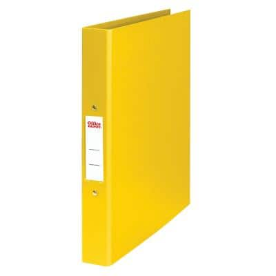 Office Depot Ring Binder Polypropylene A4 2 ring 25 mm Yellow