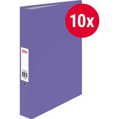Office Depot Ring Binder 2 Rings Paper on Board A4 Purple 10 Pieces