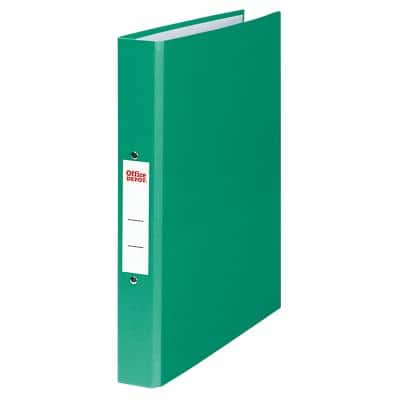 Office Depot Ring Binder 2 Rings 25 mm Paper on Board A4 Green