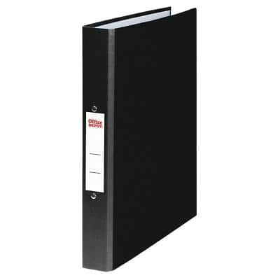 Office Depot Ring Binder 2 ring 25 mm Paper on Board A4 Black