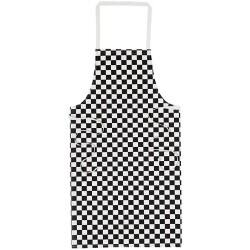 unisex Big check chefs apron Size: One size Length: 36 (91 cm) Royal big check