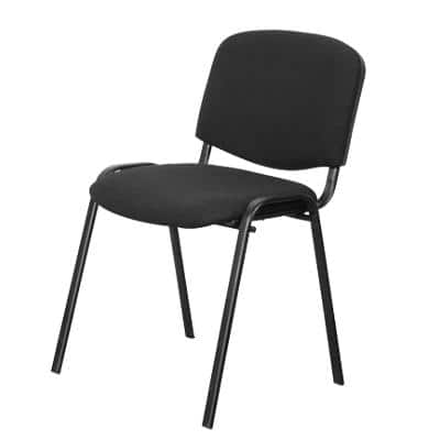 Niceday Stacking Chair with Optional Armrest 5815485 Black Pack of 4