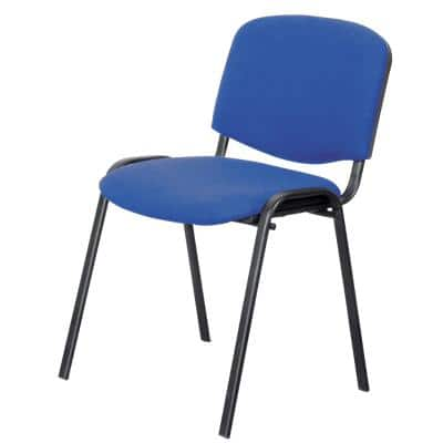 Niceday Stacking Chair with Optional Armrest 5815494 Blue Pack of 4