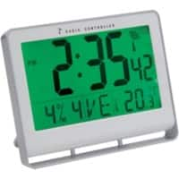 Alba Digital Wall Clock HORLCDNEO 20 x 3cm Silver Grey