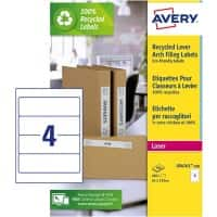 Avery LR4761 Spine Labels for Wide Files White 100 Sheets of 4 Labels
