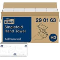 Tork Folded Hand Towels H3 Advanced 2 Ply V-fold White 50 Sheets Pack of 15