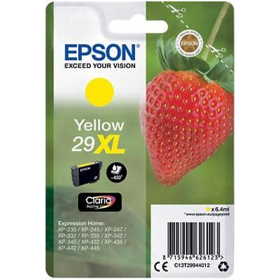 Epson 29XL Original Ink Cartridge C13T29944012 Yellow