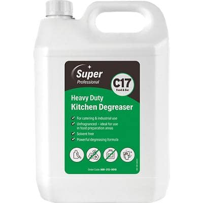 Super Professional Products C17 Kitchen Degreaser Heavy Duty 5L 2 Bottles