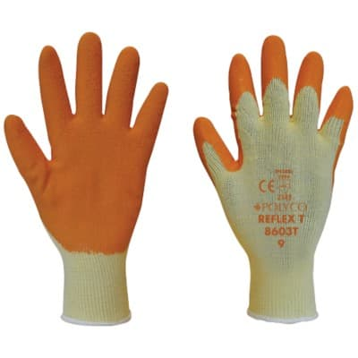 Polyco Gloves Latex Size 9 Orange