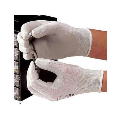 Polyco Gloves Knitted Nylon, Nitrile Size 10 Grey, White