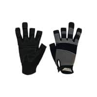 Polyco Gloves Leather Unpowdered Size 8 Black, Grey