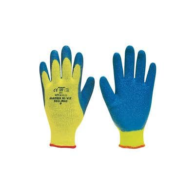 Polyco Gloves Latex Unpowdered Size 8 Yellow, Blue