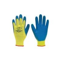 Polyco Gloves Latex Unpowdered Size 9 Yellow, Blue