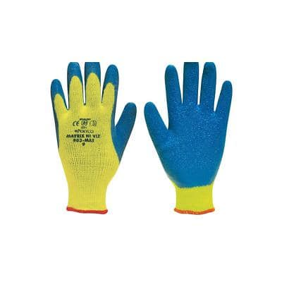 Polyco Gloves Latex Unpowdered Size 10 Yellow, Blue