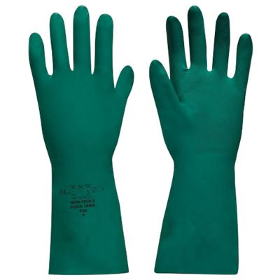 Polyco Gloves Gauntlet Nitrile Unpowdered Size 8 Green