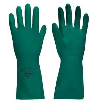 Polyco Gloves Gauntlet Nitrile Unpowdered Size L Green