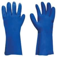Polyco Gloves Gauntlet Nitrile Unpowdered Size 10 Blue