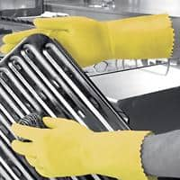 Polyco Gloves Gauntlet Rubber Size 7 Yellow