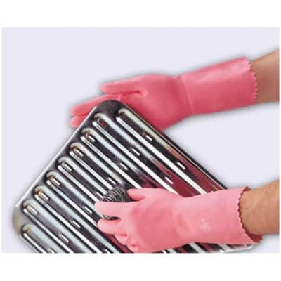 Polyco Gloves Gauntlet Rubber Size 8 Pink