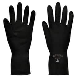 Polyco Gloves rubber size 8 Black