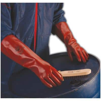Polyco Gloves Gauntlet PVC Size 10 Red