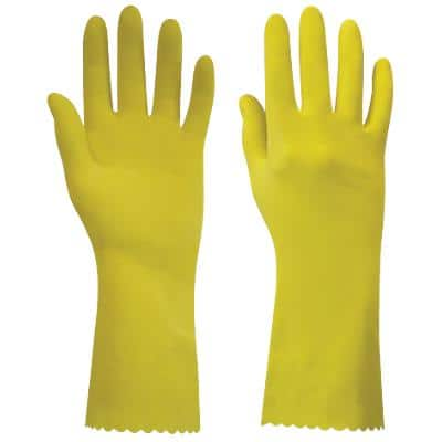 Polyco Gloves Latex Size L Yellow