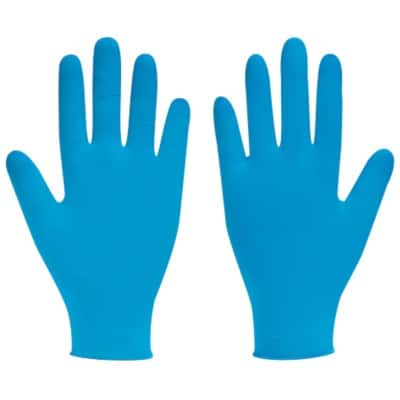 Bodyguards Gloves Disposable Nitrile Size 8.5 Blue 100 Pieces