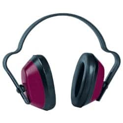JSP Economuff Ear Defenders Black/Red