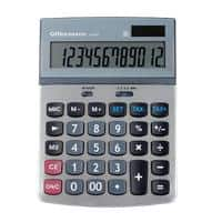 Office Depot Desktop Calculator AT-814 12 Digit Display Silver