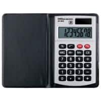 Office Depot Pocket Calculator AT-809 8 Digit Display Dual Power Black, Silver