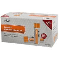 Ativa AA Alkaline Batteries Longlife LR06 1.5V Pack of 28