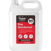 Super Professional Products W5 Disinfectant Pine Fresh 5L 2 Bottles
