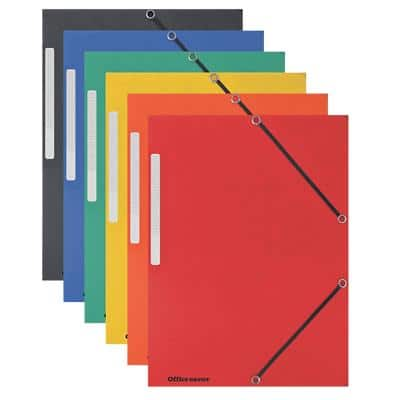 Office Depot 3 Flap Folder A4 Assorted Mottled Pressboard Pack of 10