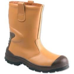 Unisex Rigger safety boot Size: 9 Tan