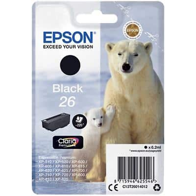 Epson 26 Original Ink Cartridge C13T26014012 Black