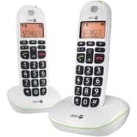 Doro PhoneEasy 100w Duo Cordless Telephone White Twin Handset