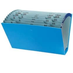 Office Depot Expanding File Multipurpose Foolscap Blue cardboard