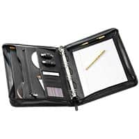 Falcon Leather Conference Folder 10.1 inch Tablet with Ring Binder FI6518 30 x 36 x 7 cm Black