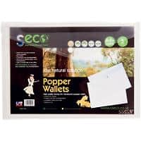 Seco Document Wallet A4 Clear Oxo-biodegradable Polypropylene 23.5 x 33.5 x 1.5 cm