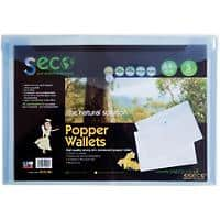 Seco Document Wallet A4 Blue Oxo-biodegradable Polypropylene 23.5 x 33.5 x 1.5 cm