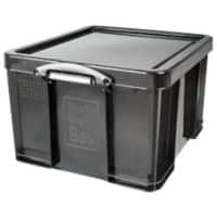 Really Useful Black Recycled Box 42 Litre Capacity