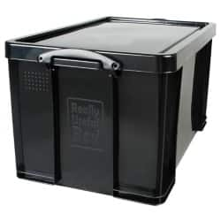 Really Useful Black Recycled Box 84 Litre Capacity